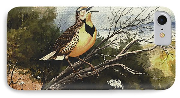 Meadowlark iPhone 7 Case - Eastern Meadowlark by Sam Sidders