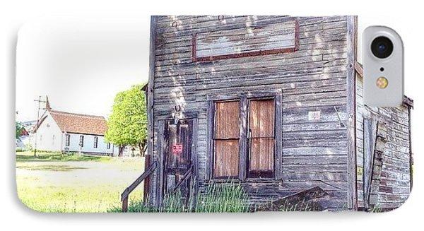 Eastern Oregon Road Trip An Old Shop IPhone Case by Blenda Studio