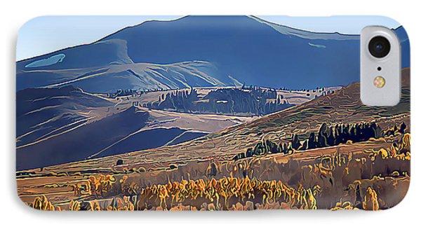 Eastern Sierra Nevada Autumn IPhone Case by Wernher Krutein