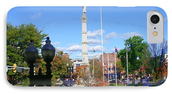 Easton Pa - Civil War Monument IPhone Case by Jacqueline M Lewis