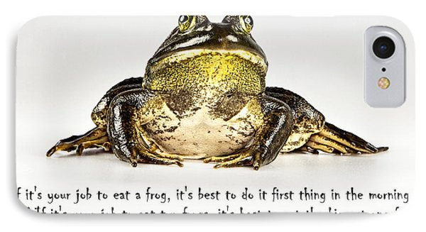 Eat Frog IPhone Case by John Crothers