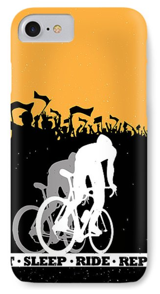 Eat Sleep Ride Repeat IPhone Case by Sassan Filsoof