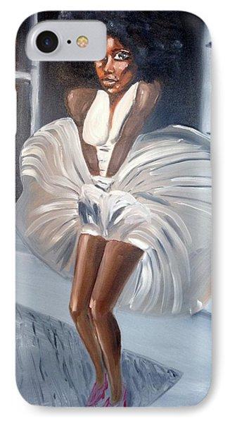 Ebony Monroe IPhone Case by Sean Ivy aka Afro Art Ivy