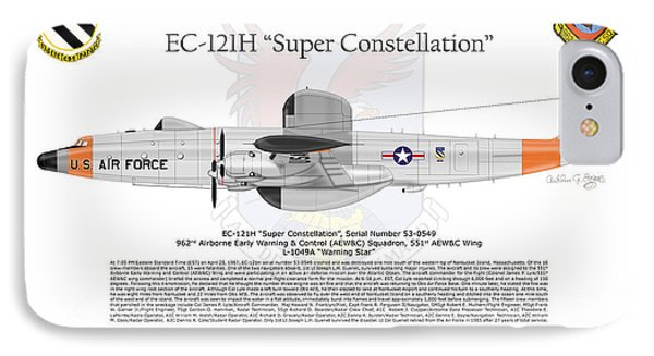 IPhone Case featuring the digital art Ec-121h Super Constellation by Arthur Eggers