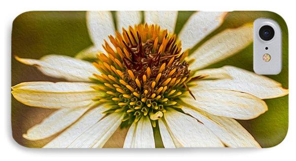 Echinacea Fading Beauty Phone Case by Omaste Witkowski