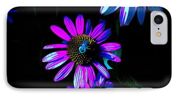 Echinacea Hot Blue Phone Case by Karla Ricker