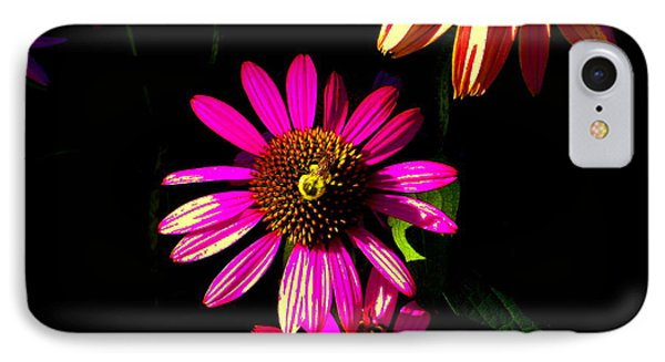 Echinacea In Hot Pink Phone Case by Karla Ricker