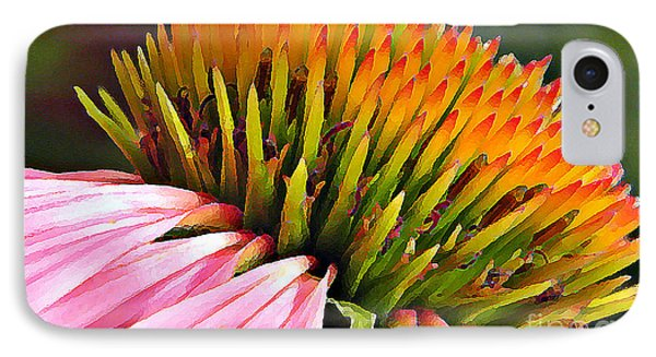 Echinacea In  Watercolors  Phone Case by Chris Berry