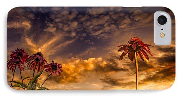 Echinacea Sunset Phone Case by Bob Orsillo