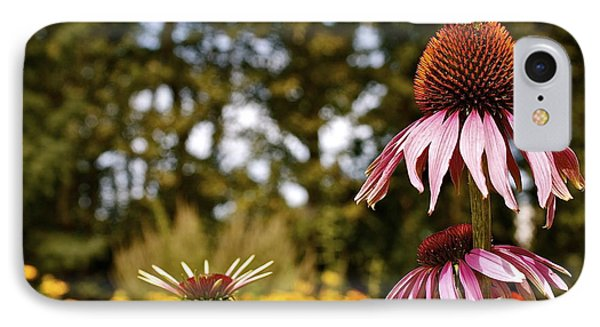Echinacea With Bee IPhone Case by Linda Bianic