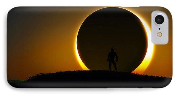 IPhone Case featuring the digital art Eclipse... by Tim Fillingim