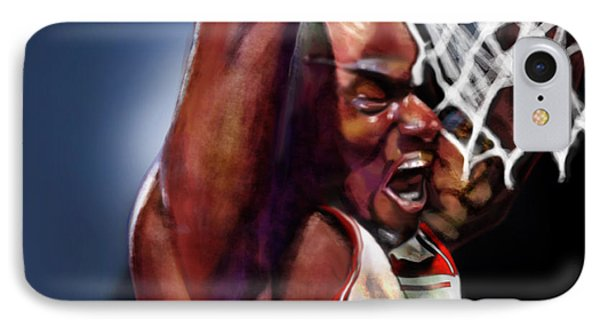 Eclipsing The Moon - Jordan  Phone Case by Reggie Duffie