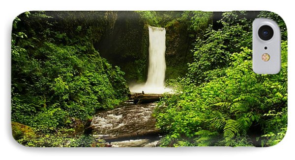 Ecola Falls  IPhone Case by Jeff Swan