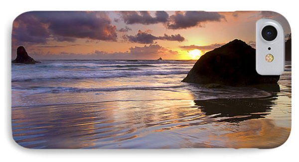 Ecola Sunset Phone Case by Mike  Dawson