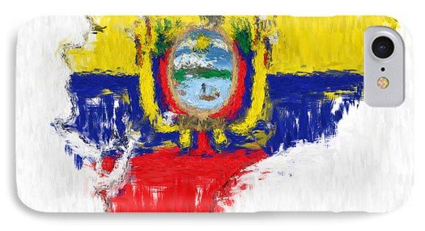 Ecuador Painted Flag Map IPhone Case by Antony McAulay