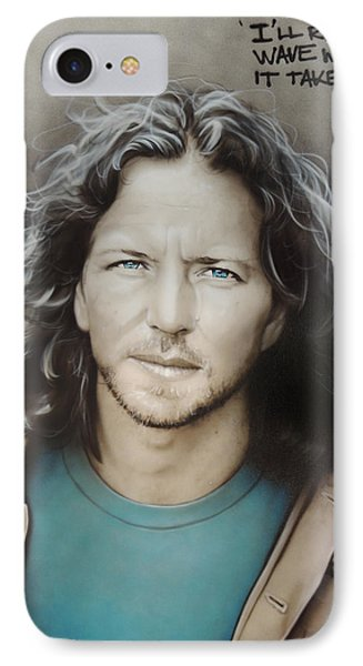 ' Eddie Vedder ' IPhone 7 Case by Christian Chapman Art