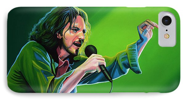 Eddie Vedder Of Pearl Jam IPhone 7 Case by Paul Meijering