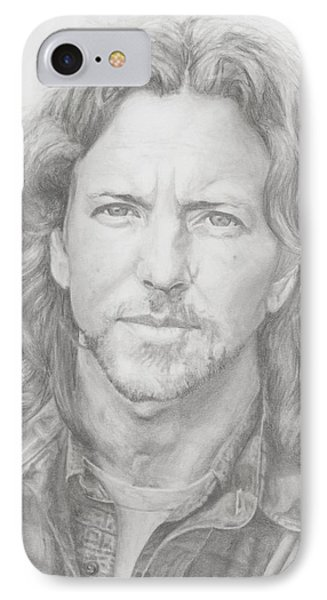 Eddie Vedder IPhone 7 Case by Olivia Schiermeyer