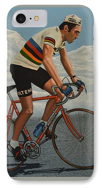 Eddy Merckx IPhone Case by Paul Meijering