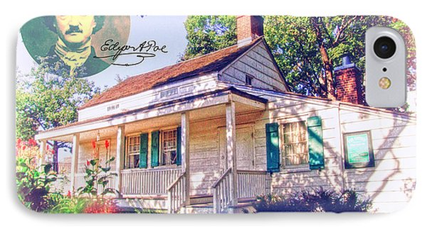 Edgar Allan Poe Cottage With Signature IPhone Case by Nishanth Gopinathan