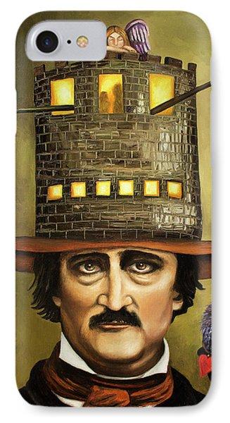 Edgar Allan Poe Phone Case by Leah Saulnier The Painting Maniac