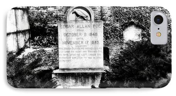 Edgar Allen Poe Grave Site Baltimore Phone Case by Bill Cannon