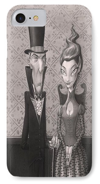 Edgar And Larissa IPhone Case by Richard Moore