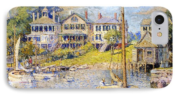 Edgartown  Martha's Vineyard IPhone Case by Colin Campbell Cooper