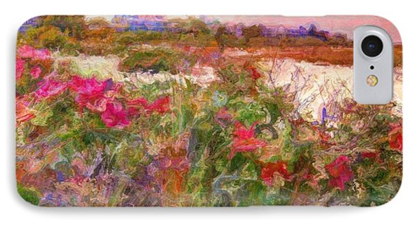Edgartown Shoreline Roses - Square IPhone Case by Lyn Voytershark