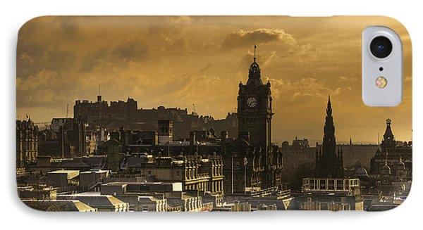 Edinburgh Dusk IPhone Case by Ross G Strachan