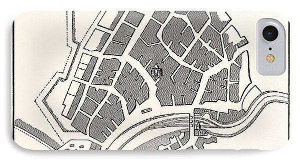 Edinburgh Plan Of Leith Showing The Eastern Fortifications IPhone Case