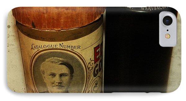 Edison Phonograph Cylinder 9750 Comic Song  Garibaldi  Phone Case by Bill Cannon