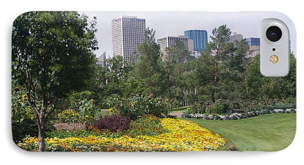 IPhone Case featuring the photograph Edmonton From Muttart Gardens by Sheila Byers