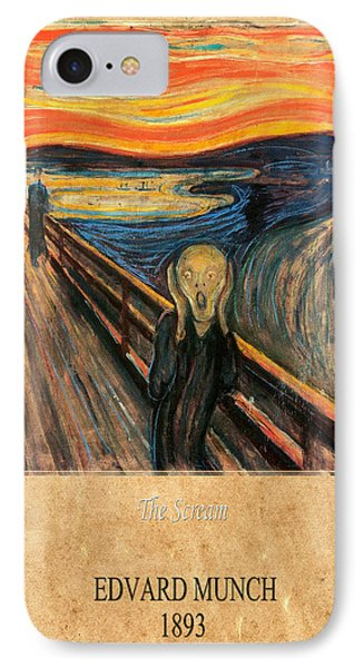 Edvard Munch 1 IPhone Case by Andrew Fare