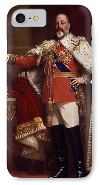 Edward Vii In Coronation Robes IPhone Case by Mountain Dreams