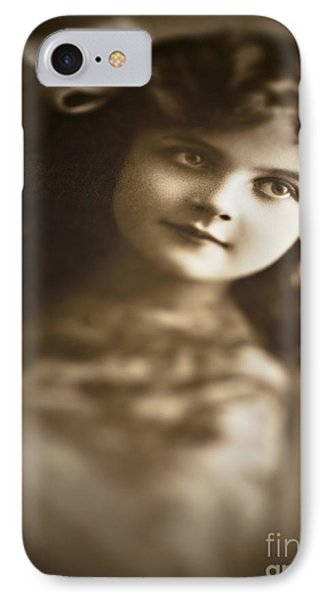 Edwardian Young Girl IPhone Case by Jan Bickerton