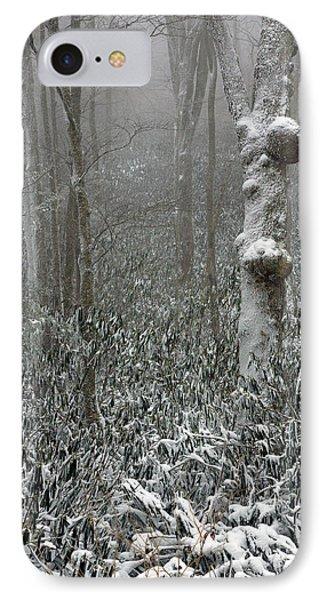 Eerie Forest Winter Phone Case by John Haldane