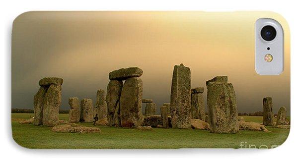 Eerie Stonehenge Phone Case by Deborah Smolinske