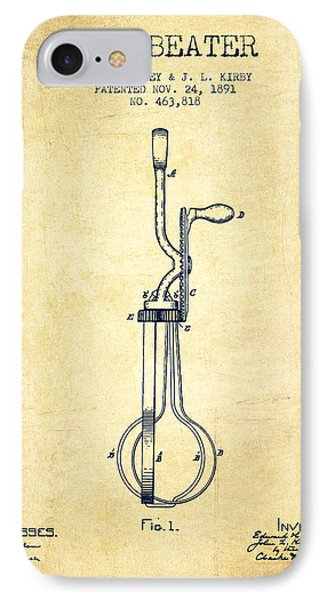 Egg Beater Patent From 1891 - Vintage IPhone Case