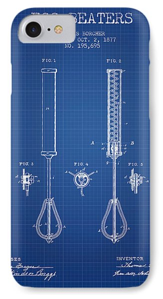 Egg Beaters Patent From 1877 - Blueprint IPhone Case