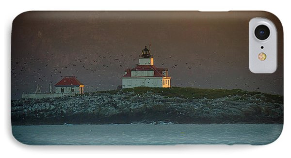 Egg Rock Island Lighthouse IPhone Case by Sebastian Musial