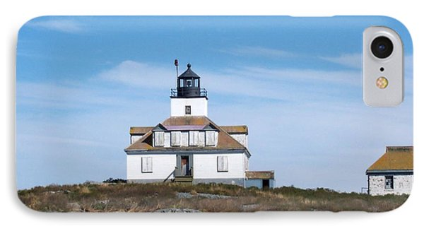 Egg Rock Lighthouse IPhone Case by Catherine Gagne
