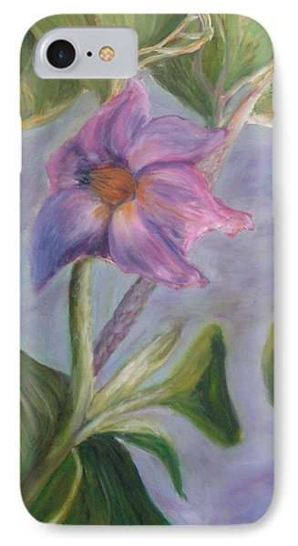 Eggplant Blossom IPhone Case
