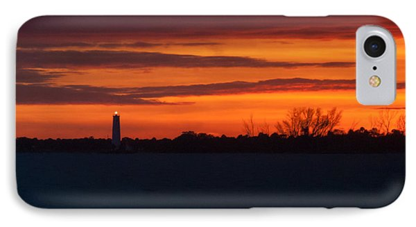 IPhone Case featuring the photograph Egmont Key Lighthouse Sunset by Paul Rebmann