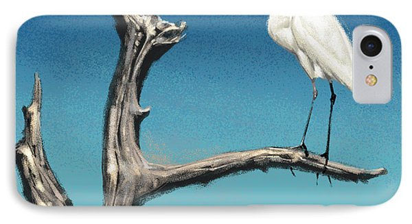 IPhone Case featuring the digital art Egret by Aaron Blaise