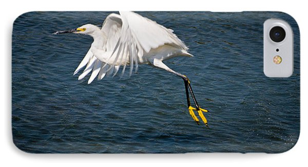 IPhone Case featuring the photograph Egret Aloft by Janis Knight