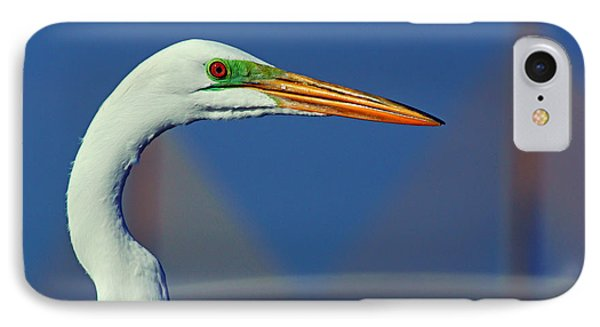 IPhone Case featuring the photograph Egret And Skyway II by Daniel Woodrum