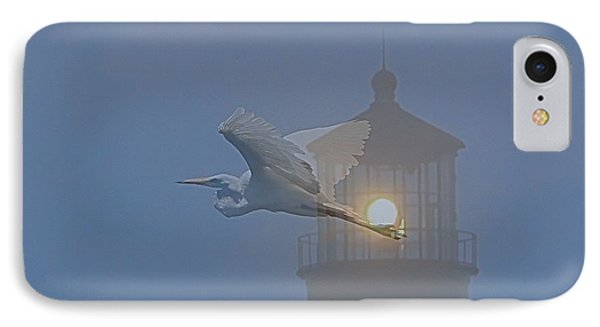 Egret At Hatteras IPhone Case by Cathy Lindsey