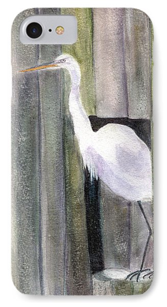 Egret At John's Pass Phone Case by Mickey Krause