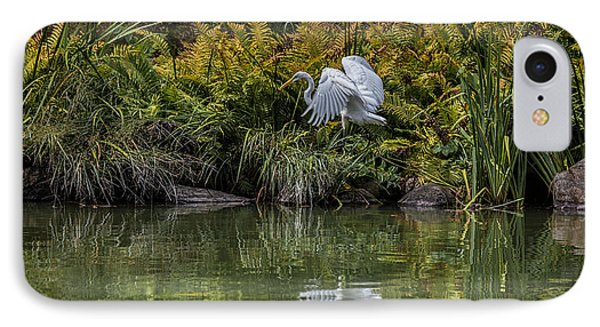 IPhone Case featuring the photograph Egret At The Lake by Chris Lord
